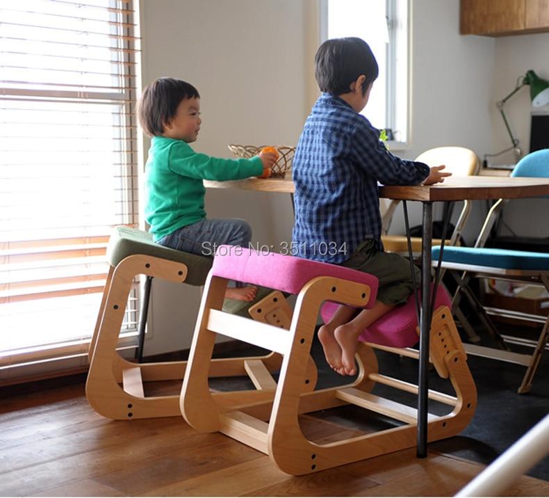 Ergonomic Posture Knee Chair For Kids Study Ergonomically Designed Kneeling Chair Wood Modern Office Furniture Computer Chair