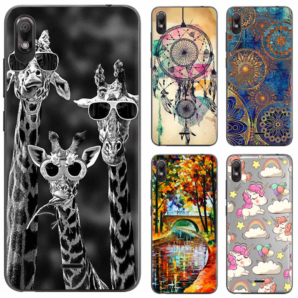 Soft Phone Case Silicone Cover Voor Wiko View 2 Go 5.93-inch TPU Fashion Kleurrijke Patroon Geschilderd Transparant Case