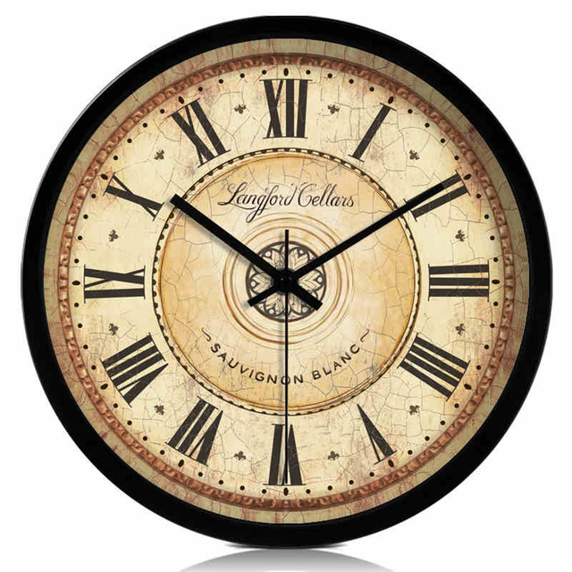 Retro Wooden European Style Wall Clock Mate Quartz Waterproof Wall Clock Wedding Decoration  Temporizador Vintage Clocks 50A0845