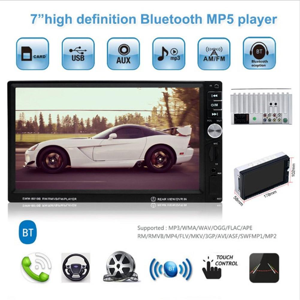 7 Inch HD Touch Screen Car Audio MP4 Player With Square Control Car MP5 Player Bluetooth Call Radio Support TF Card7 Inch HD Touch Screen Car Audio MP4 Player With Square Control Car MP5 Player Bluetooth Call Radio Support TF Card