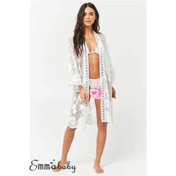 Для женщин Летняя одежда Пляжная мягкая Cover Up женское платье-кафтан кружево халаты