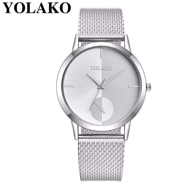 2019 Hot Fashion Women Quartz Watch Luxury Plastic Leather Analog Wrist Watches Female Clock YOLAKO Brand Relogio Feminino 2