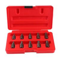 10pcs/set Damaged Screw Extractor Drill Bits Broken Bolt Stud Stripped Screw Remover Tool Woodworking Metalworking Tool Box