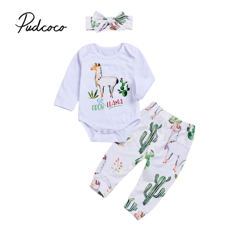 2PCS Cute Newborn Infant Baby Girl Clothes Floral T shirt Tops+Pants Outfits Set