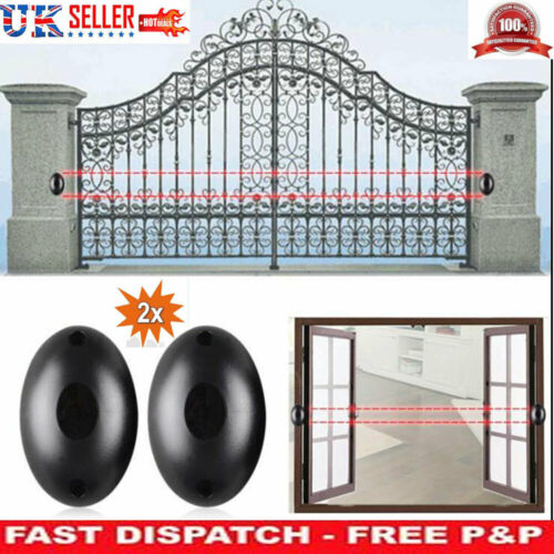 2x Beam Photoelectric Infrared Detector Alarm Barrier Sensor Home Security Alarm