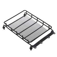 Black Metal Roof Luggage Rack Top Cargo Carrier for HSP RC Model Cars Vehicle(China)