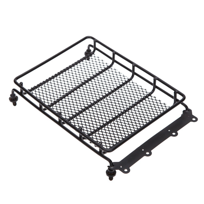 Free Shipping 1Pcs 15*10.5*3.5cm Roof luggage rack Fit for 1:10 HSP RC model Cars Black Metal Universal Roof rack Outer car part image