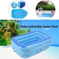 120/150/180cm Children Bathing Tub Baby Home Use Paddling Pool Inflatable Square Swimming Pool Kids Inflatable Pool