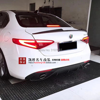For Alfa Romeo Giulia Spoiler 2015 2019 Carbon Fiber Rear Roof Spoiler Wing Trunk Lip Boot Cover Car Styling