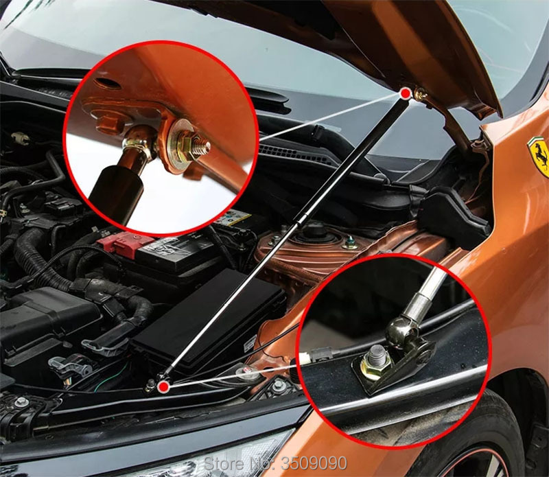 Car Hood Support Hydraulic rod Lift Strut Spring Shock Bars For honda civic 2017 For honda civic 2006 2011 Car styling