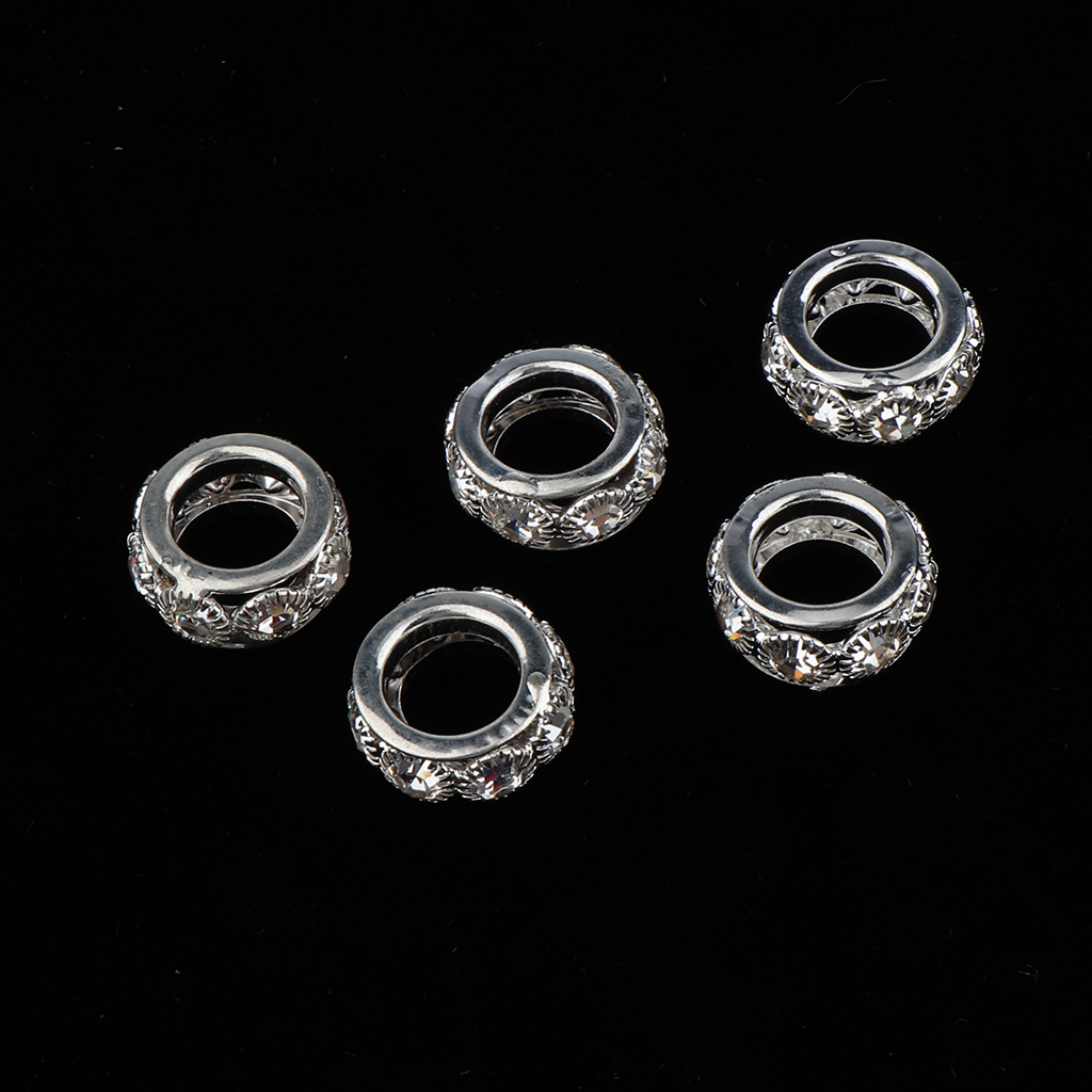 5pcs Dreadlock Hair Beads Hair Braid Rings Cuff Clips Beard Hair Decorations