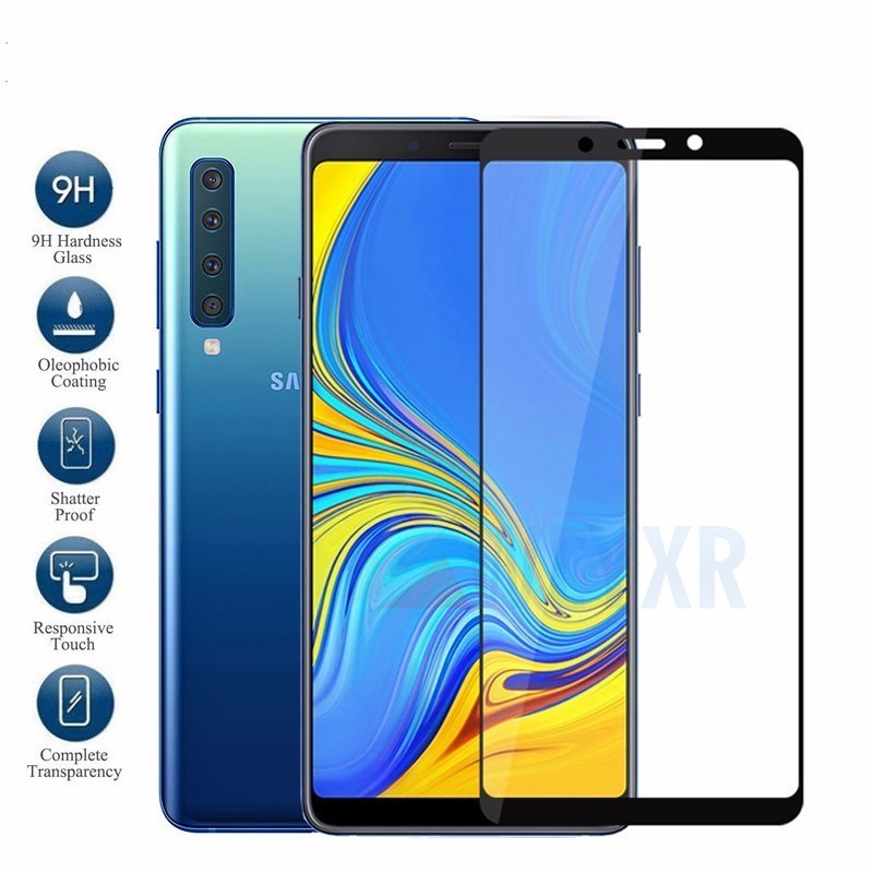 2Pcs/Lot Case for Samsung Galaxy A7 2018 A750 SM-A750F Protective Glass On the Samsun A 7 2018 <font><b>A72018</b></font> Full Cover Film 9H image