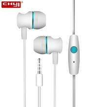 CHYI In Ear Headset Wired Earphones With Microphone Sport Cheap Fashion Handsfre