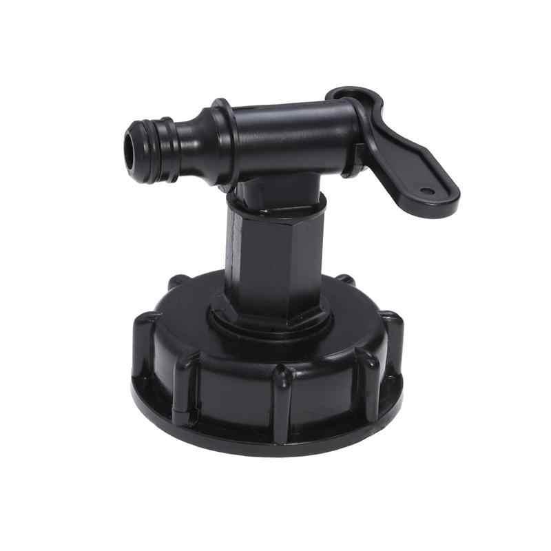 Ibc tanque adaptador para 15mm tanque de água quintal jardim torneira mangueira válvula adaptador conector encaixes (preto)