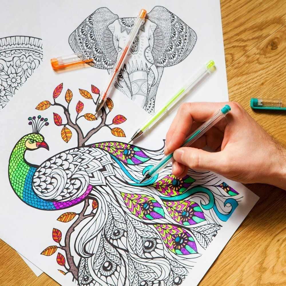 100 mehrfarbigen Kugelschreiber Gel Highlight Stift Refill Set Bunte Glänzende Stift Minen Für Schule Chancellory Boligrafos 04116