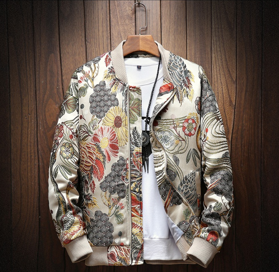 Japanese Embroidery Men Jacket Coat Man Hip Hop Streetwear Men Jacket Coat Bomber Jacket Men Clothes 2019 Sping New