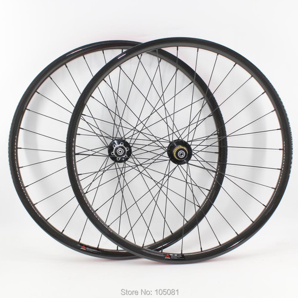 29er MTB Full Carbon Wheelset Mountain Bike Wheels Clincher Bicycle Wheelset US