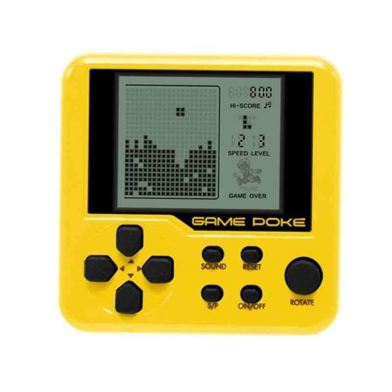 26クラシックゲーム子テトリスポケットゲームコンソールポータブルミニ電子ペットゲーム機テトリスレンガゲームキーホルダーおもちゃ