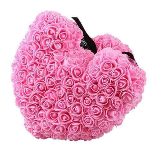40cm Rose Teddy Bear W Heart Flower Gift For Girlfriend Birthday Wedding Valentine Romantic