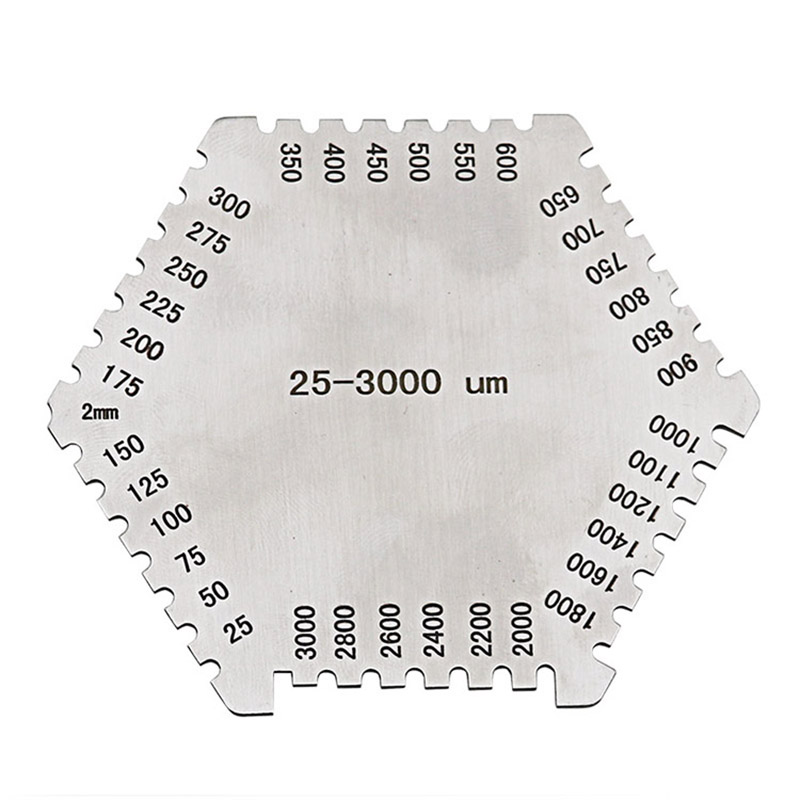 BP/_ Refined Stainless Steel High Precision Wet Film Comb Hexagonal Thickness Gau
