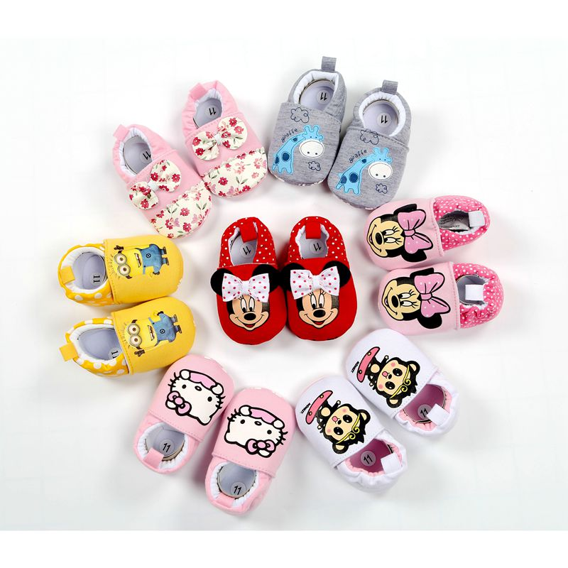 2019 New Baby Infant Shoes 0-18M Boys Girls Casual Shoes Soft Cartoon High Quality Spring Autumn Fashion Baby First Walkers