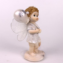 Resin Small Angel Home Decoration Accessories Modern Fairy Figurine Pop Ornaments Miniatures
