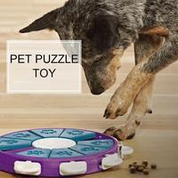 Feeding Dog Puzzle Toy Dog Slow Feeding Device Anti choking ABS Food Bowl Disk Training Dog Cat Interactive Pet Toy