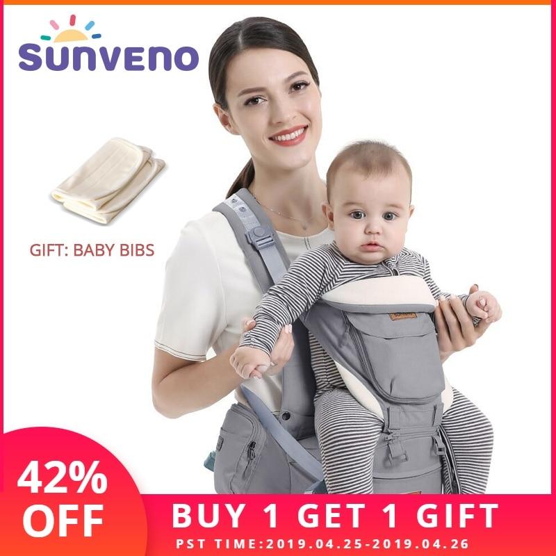SUNVENO porte-bébé ergonomique bébé Hipseat porte-bébé face avant ergonomique kangourou attache kangourou pour bébé élingue pour bébé voyage 0-36 M - 6