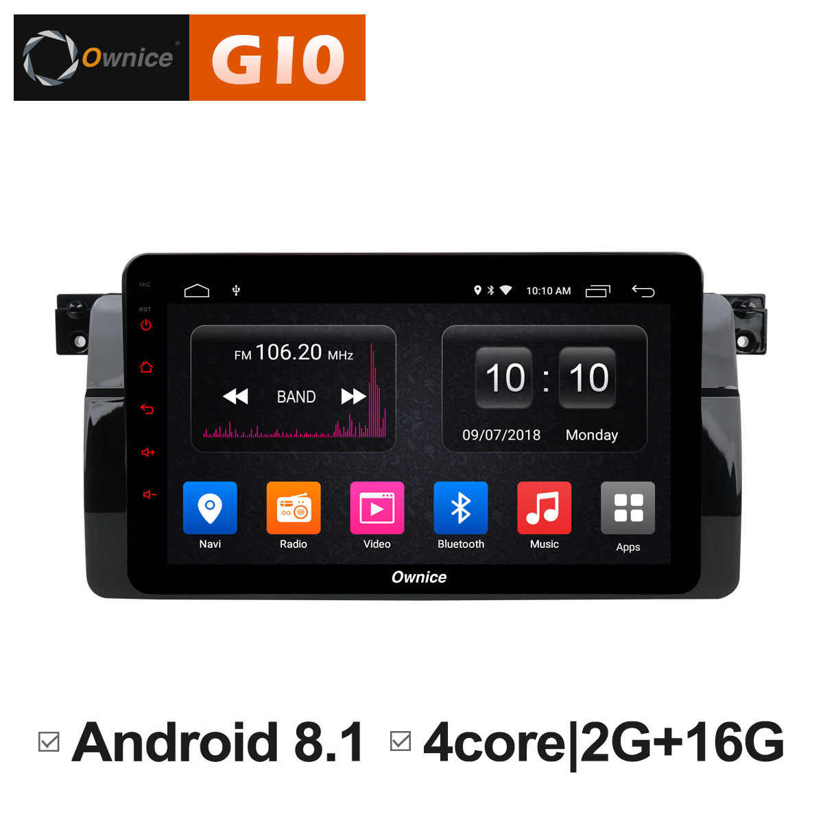 Ownice C500 + G10 Octa Core Android 8.1 auto dvd voor bmw E46 M3 gps navigatie canbus radio RDS 2g + 32g 1024x600 obd 4G LTE carplay