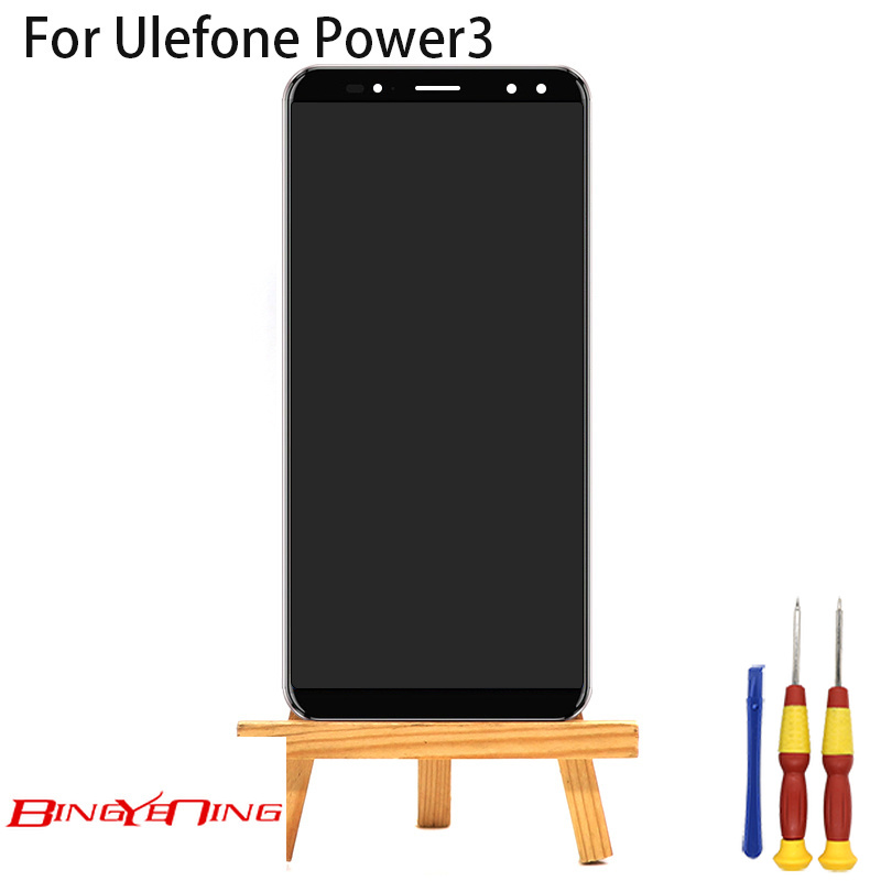 BingYeNing New Original For Ulefone Power 3 Power 3s Touch Screen LCD Display Frame Assembly Replacement