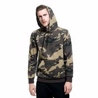 Mens Long Sleeve Camouflage Hooded Tops Male Outdooor Sports Climbing Running Training Breathable Pullover Hoodie EU Big Size