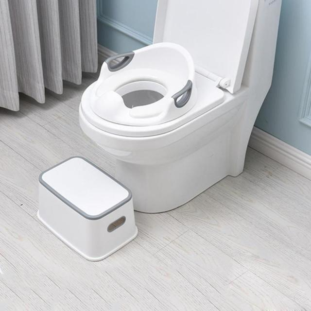 Kids Plastic Multifunction Footstool Baby Portable Toilet Training Anti-skid Stool Kids Plastic Chair Footstool Accessories 1