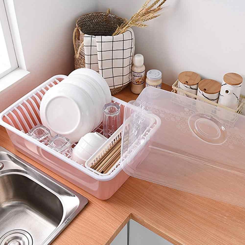 Dish Drain Rack Cutlery Storage Rack With Lid Shelf Creative Plastic Cabinet Plate Organizer Kitchen Table Organizer Decoration Racks Holders Aliexpress