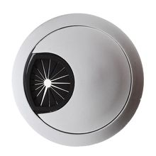 цены PC computer stainless steel 50 mm diameter Desk grommet cable hole cover