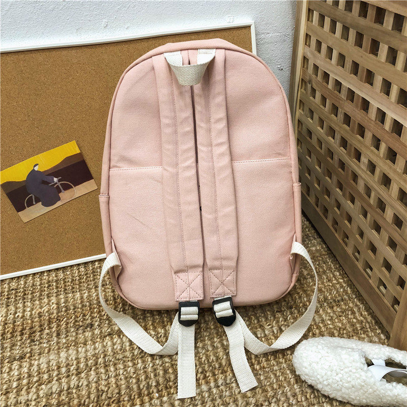 Female High Quality Canvas Travel Backpack  1