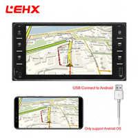 LEHX autoradio mp5 lecteur 7 pouces 2din USB MP3 MP4 MP5 pour Toyota Camry/Vios/Corolla/souhait/Altis/Support miroir link Android 8.0
