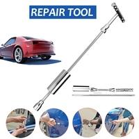 Long Handle Car Body Paintless Dent Lifter Car Repair Dent Puller Hand Tool Set Metal T Bar Puller Slide Hammer Romoval Tool Kit