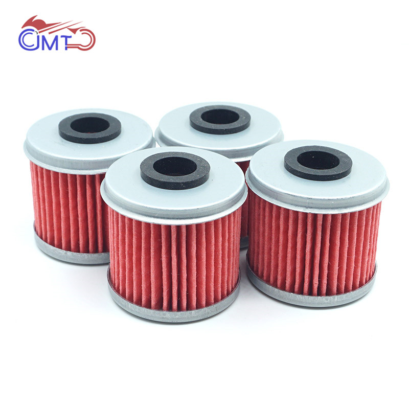 For Honda CRF250R CRF250X CRF450R CRF450X CRF150R TRX450R TRX450ER Engine Oil Filters 4PCs Lot CRF 150 250 450 R X CRF250 CRF450