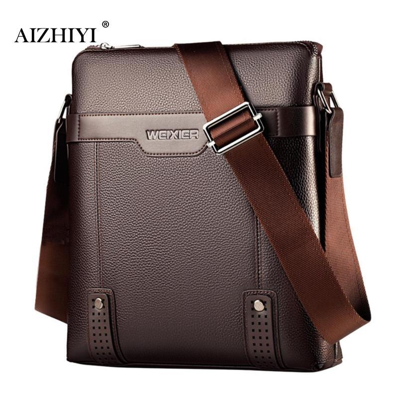 Men's Leather Vintage Color Messenger Bag Shoulder Bag Crossbody Bag Business PU Leather Men Crossbody Messenger Bags Bolsa