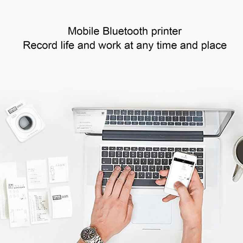 Fashion Mini Portable Wireless Connection Bluetooth Printer POS Thermal Picture Photo Ticker Printers for Android / IOS Phone
