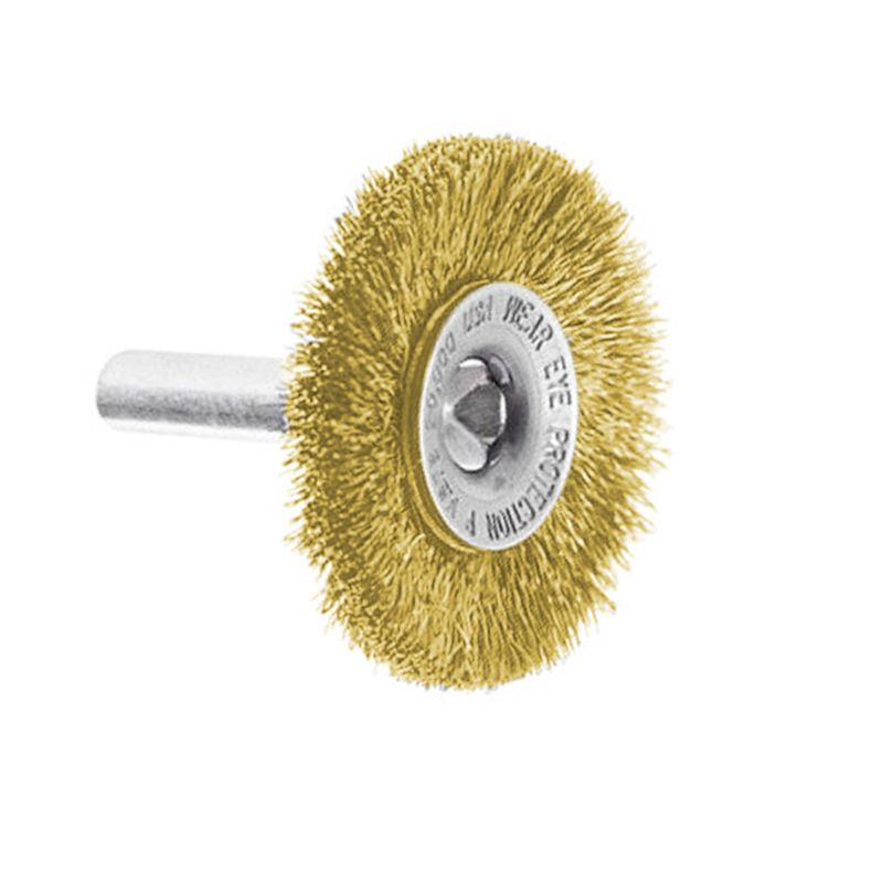 2-1//2-Inch Wire Wheel Brush Bench Brass Plated Crimped Steel 1//4inch Arbor 10pcs