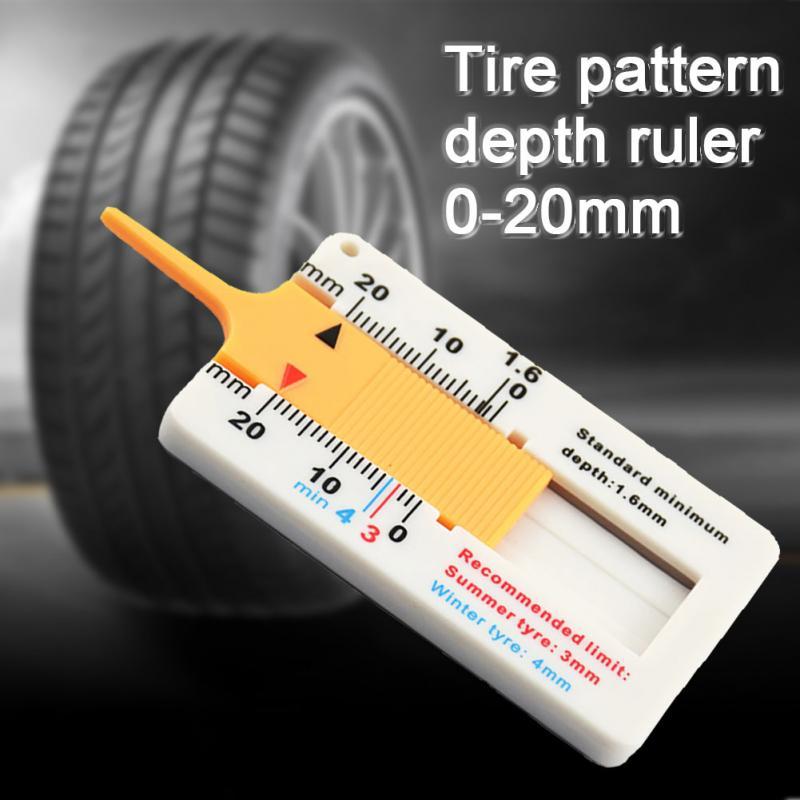 Tyre Gauge Tyre Tread Depth Gauge Tool Color Coded Standard Measure Test Tool hi
