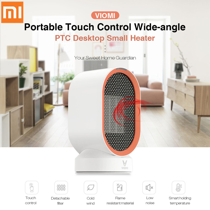 Xiaomi Viomi Mini Portable Electric Heater Fan Heater Desktop Hot Cold Wind Model Desktop Warmer Machine