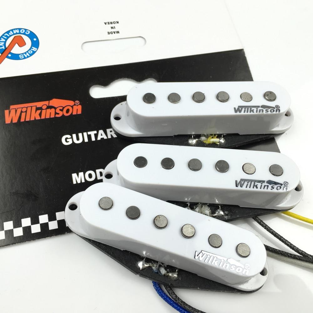 Wilkinson Premium 60's WVS Alnico V Single Coil gitaar pickups Witte - Muziekinstrumenten