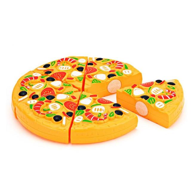 9Pcs/Set Kids Pizza Slices Food Pretend Play Toy Dinner Kitchen Toys Cutting Girls Boys Children Educational Toys with Knife 6