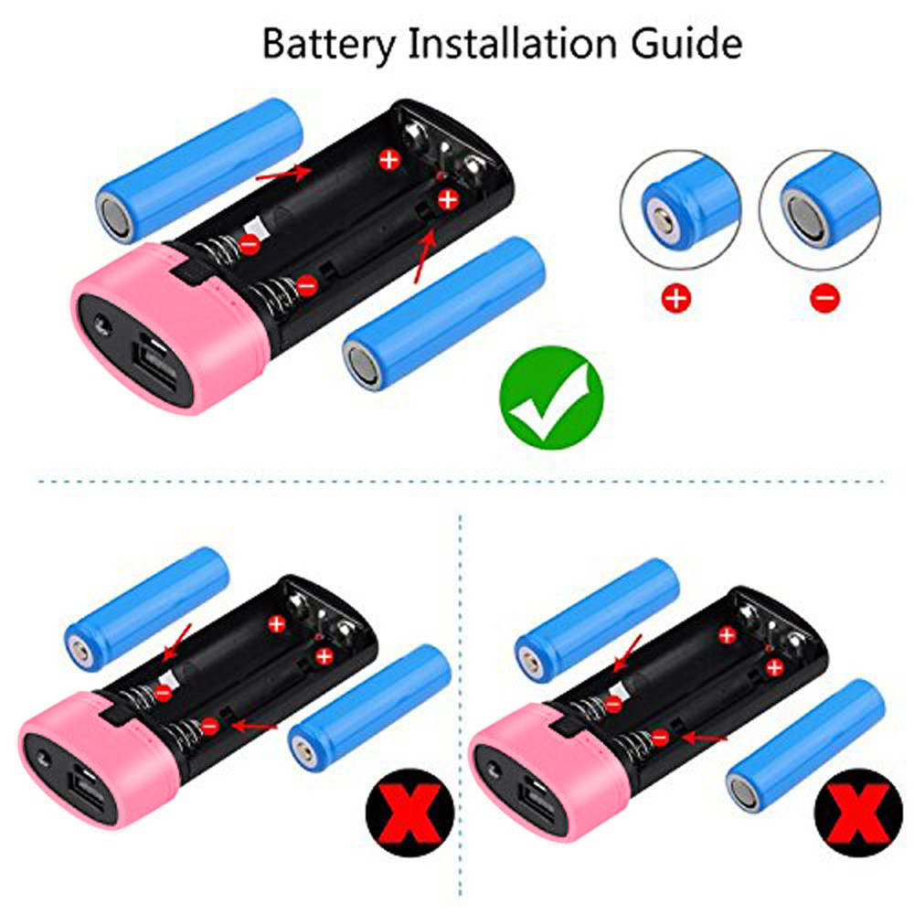 2018 Hot 5600mAh 5V USB Power Bank Case 18650 Battery Charger