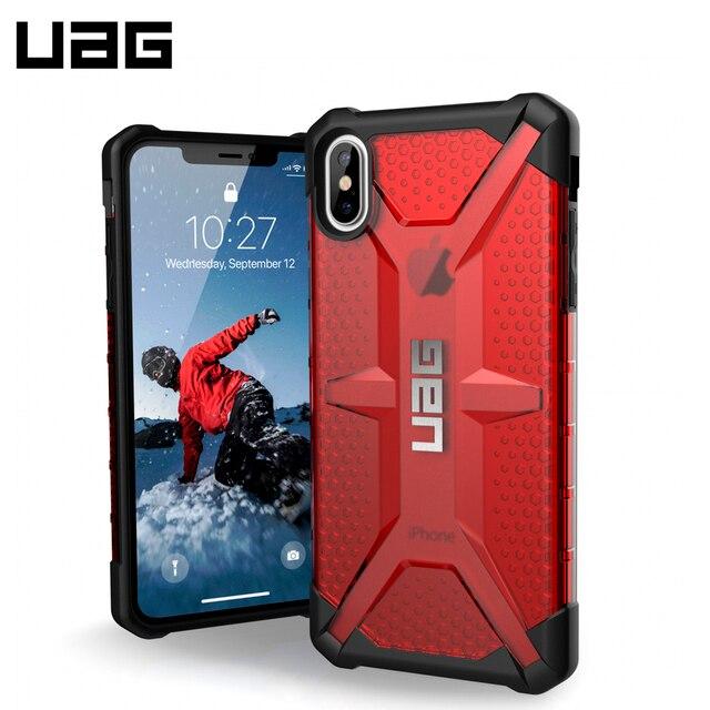 Защитный чехол UAG для iPhone XS Max серия Plasma цвет красный/111103119393/32/4