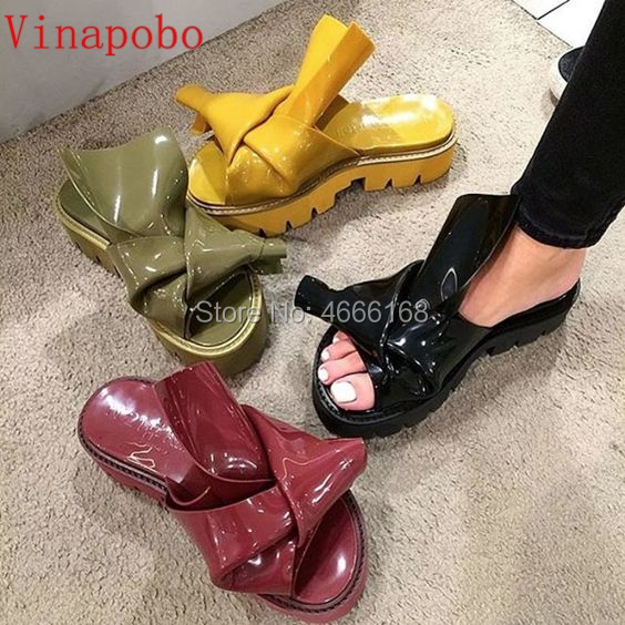 Lxuruy Brand Shoes Woman Slippers Flats Med Platform Rome Slippers Woman Beach Tipe Outside Shoes Woman