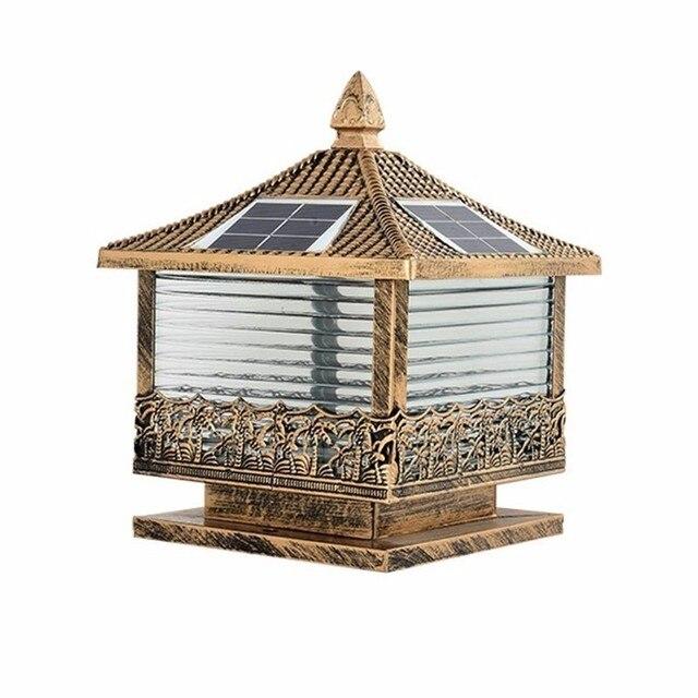 Bollard Gate Lamp Led Terraza Y Jardin Decoracion Luminaire Exterieur Lighting Outdoor Spotlight Solar Garden Landscape Light