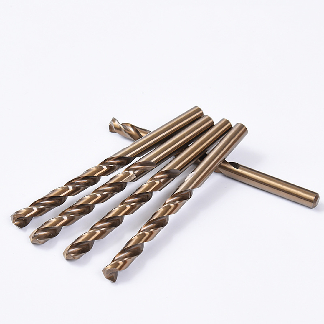 Hot 1mm 1.5mm 2mm HSS-CO M35 Cobalt Steel Straight Shank Twist Drill Bits For Stainless Steel/Metal/Aluminum/Copper/Plastic/Wood